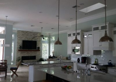 Custom kitchen audio installation whole home sound